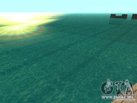 El agua de forma predeterminada para GTA San Andreas tercera pantalla