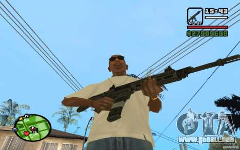 ACW-R HD para GTA San Andreas sucesivamente de pantalla