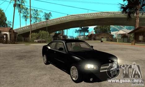 Dodge Charger RT para GTA San Andreas vista hacia atrás