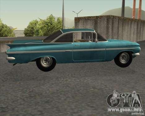 Chevrolet Impala Coupe 1959 Used para GTA San Andreas left