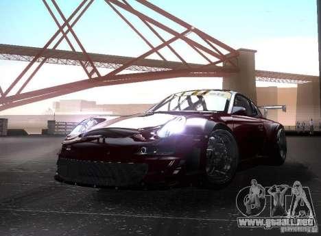 Porsche 911 GT3 RSR RWB para GTA San Andreas vista posterior izquierda