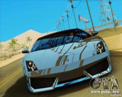 Lamborghini Gallardo LP560-4 para GTA San Andreas vista hacia atrás
