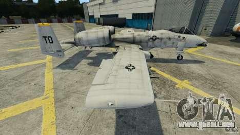 A-10A Thunderbolt II para GTA 4 left