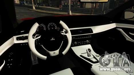 BMW M5 F10 2012 Hamann para GTA 4 visión correcta