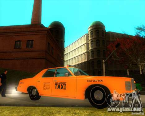 Ford Custom 500 4 door taxi 1975 para GTA San Andreas left