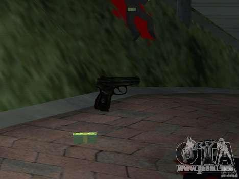 Pak versión doméstica armas 4 para GTA San Andreas séptima pantalla