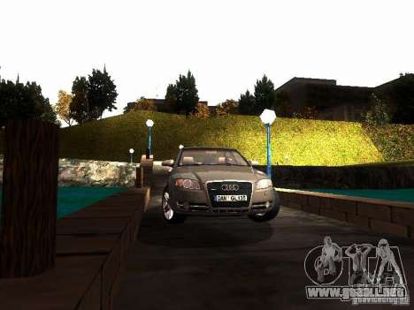 Audi A4 3.0 TDI Quattro 2005 para GTA San Andreas vista hacia atrás