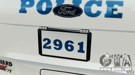 Ford Explorer NYPD ESU 2013 [ELS] para GTA 4 interior