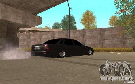 LADA priora luz tuning v. 2 para GTA San Andreas vista posterior izquierda