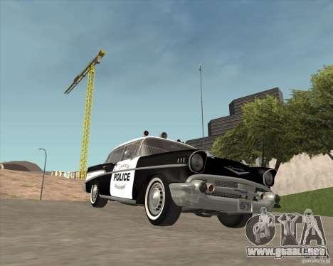 Chevrolet BelAir Police 1957 para visión interna GTA San Andreas