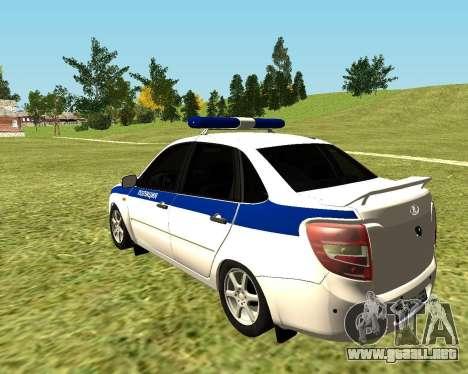 VAZ 2190 policía para GTA San Andreas left