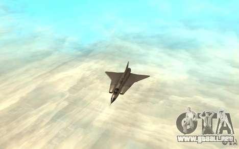 Saab J-35 Draken para GTA San Andreas left