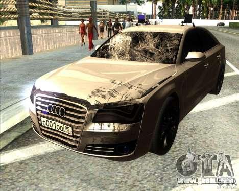 Audi A8 2010 v2.0 para vista inferior GTA San Andreas