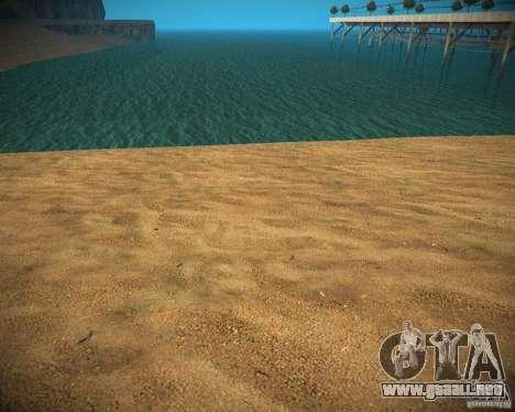 New textures beach of Santa Maria para GTA San Andreas sucesivamente de pantalla