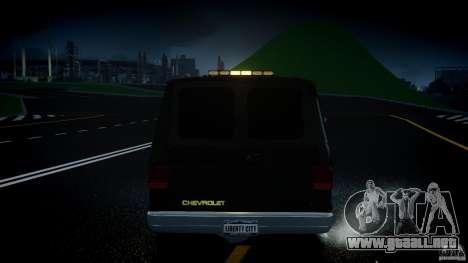 Chevrolet G20 Police Van [ELS] para GTA 4 vista desde abajo