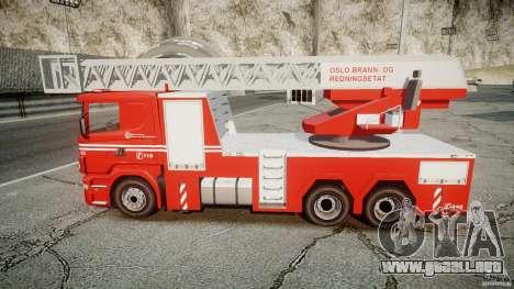 Scania Fire Ladder v1.1 Emerglights blue-red ELS para GTA 4 visión correcta