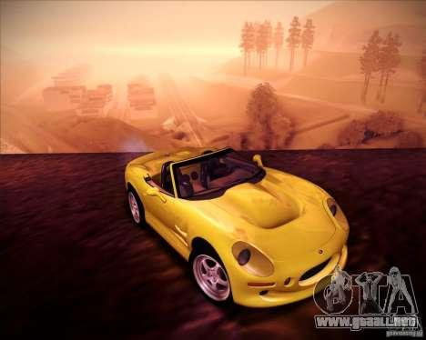 Shelby Series One 1998 para GTA San Andreas vista hacia atrás