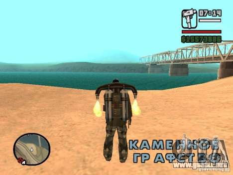 El agua de forma predeterminada para GTA San Andreas sucesivamente de pantalla