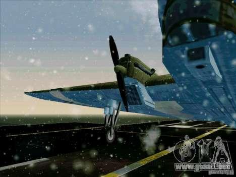 TB-3 para GTA San Andreas vista posterior izquierda
