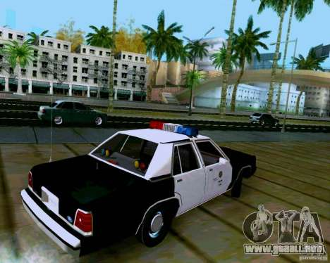 Ford Crown Victoria LTD LAPD 1991 para GTA San Andreas left