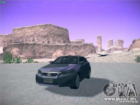 Lexus CT200H 2012 para GTA San Andreas