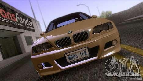 BMW M3 E48 para visión interna GTA San Andreas