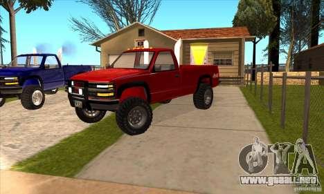 Chevrolet Silverado 2012 para visión interna GTA San Andreas