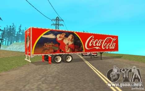 El semirremolque para Peterbilt 379 Custom Coca  para GTA San Andreas