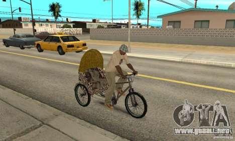 Manual Rickshaw v2 Skin4 para la visión correcta GTA San Andreas