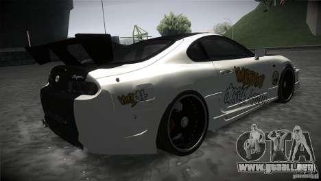 Toyota Supra MyGame Drift Team para la visión correcta GTA San Andreas