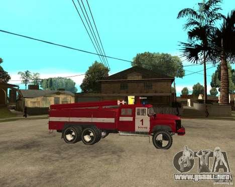 Fuego ZIL 133GÂ AC para la visión correcta GTA San Andreas