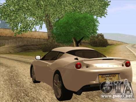 Lotus Evora para GTA San Andreas left
