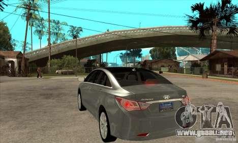 Hyundai Sonata 2011 para GTA San Andreas vista posterior izquierda