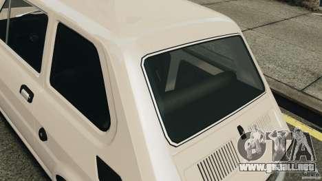 Fiat 126 Classic para GTA 4 vista hacia atrás