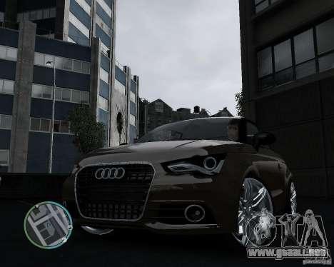 Audi A1 v.2.0 para GTA 4 Vista posterior izquierda