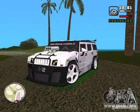 AMG Hummer H2 Hard Tuning v2 para GTA Vice City visión correcta