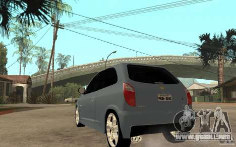 Chevrolet Celta VHC 2011 para GTA San Andreas vista posterior izquierda