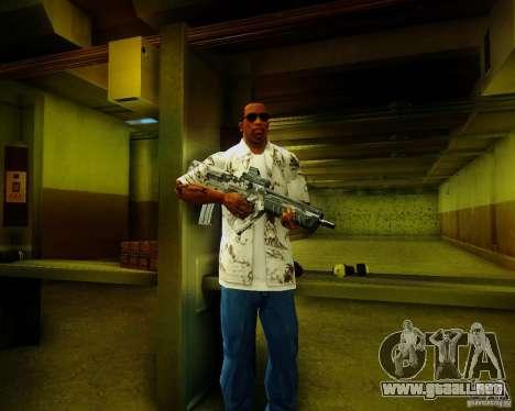 Tavor Tar-21 Digital para GTA San Andreas tercera pantalla