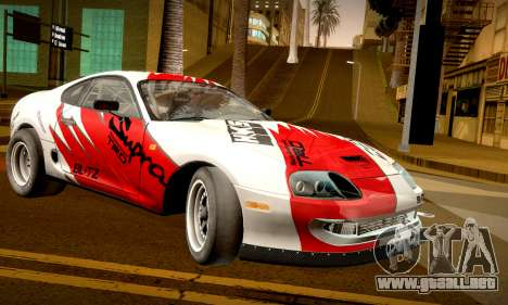 Toyota Supra JZA80 RZ Dragster para GTA San Andreas left