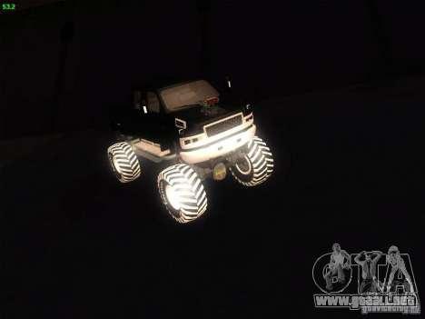 GMC Monster Truck para GTA San Andreas vista posterior izquierda