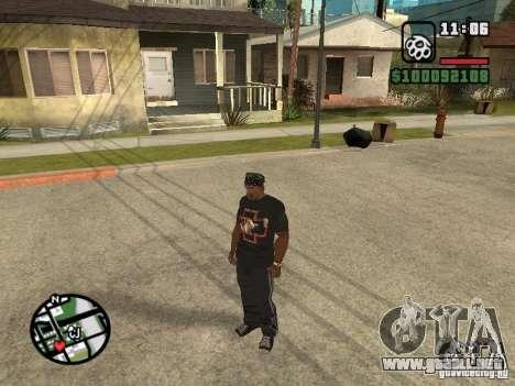 Rammstein camiseta v2 para GTA San Andreas tercera pantalla