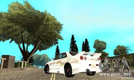 Nissan SkyLine R34 Tunable V2 para GTA San Andreas