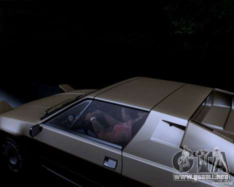 Lamborghini Jalpa 3.5 1986 para visión interna GTA San Andreas