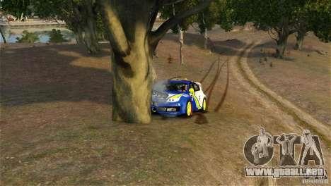 Subaru Impreza WRX STI Rallycross BFGoodric para GTA 4 vista lateral
