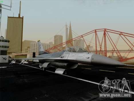 F-16C Warwolf para visión interna GTA San Andreas