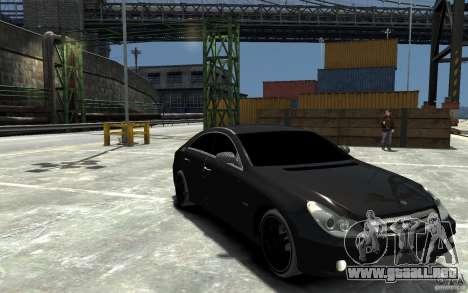 Mercedes Benz CLS Brabus Rocket 2008 para GTA 4 vista hacia atrás