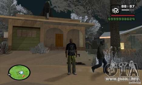Monster energy suit pack para GTA San Andreas sucesivamente de pantalla