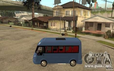 Karsan J10 para GTA San Andreas left