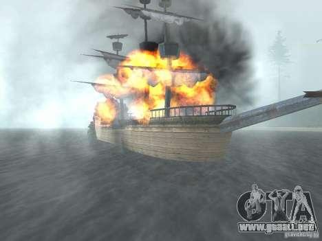 Barco pirata para GTA San Andreas tercera pantalla
