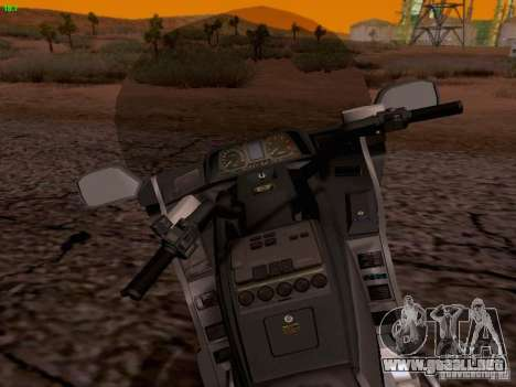 Honda Goldwing GL 1500 1990 g. para la vista superior GTA San Andreas